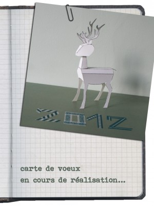 carte-voeux-2012-cerf-paper-toy